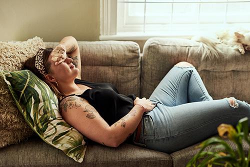 A woman with pms symptoms