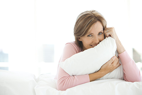 A woman in midlife considering safe sex