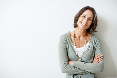 Woman with questions about menopause