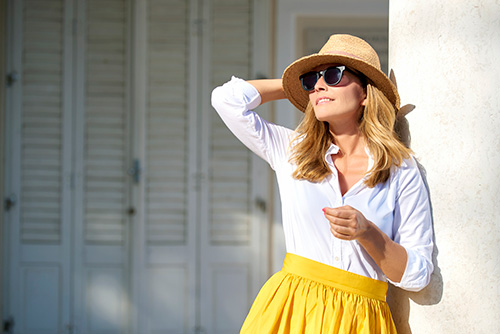 A woman in the sunshine building her vitamin D levels