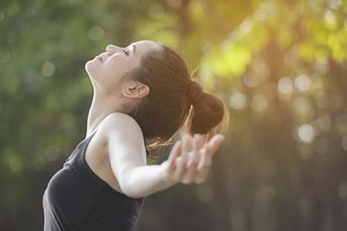 Deep breathing for improved health and wellness