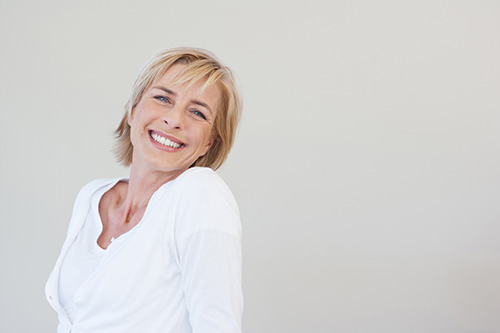 A woman in menopause concerned about her libido