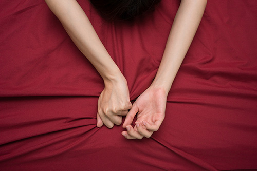 A woman in menopause takes step to boost her libido.