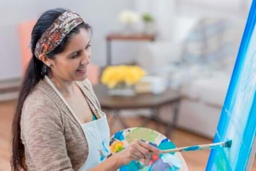 A woman in menopause finds her creative side