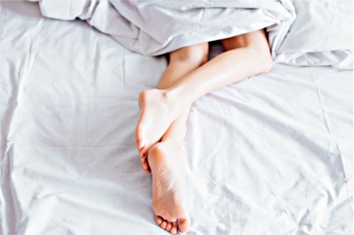 A woman concerned about her sexual health