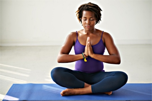 A woman finds relief in menopause by practicing yoga