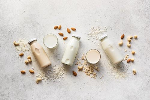 An array of non dairy milks
