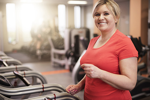 A woman taking steps to reverse fatty liver