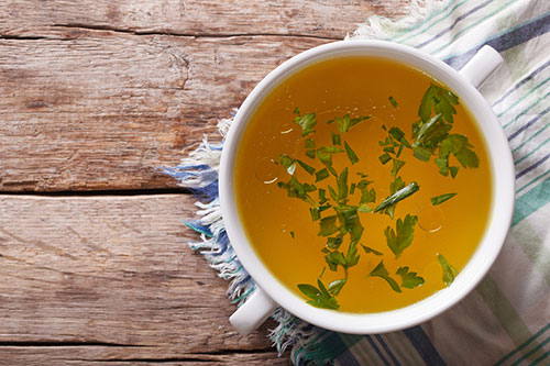 A cup of bone broth contains minerals that are good for immune health and more