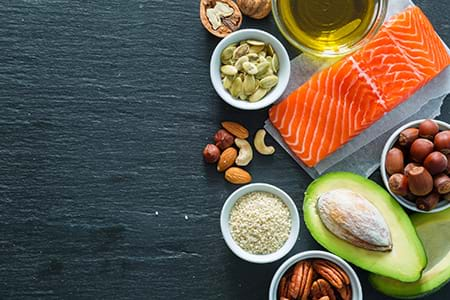 to help regulate insulin, add healthy fats to your diet