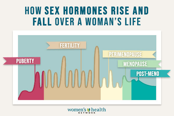 SEX HORMONES RISE AND FALL
