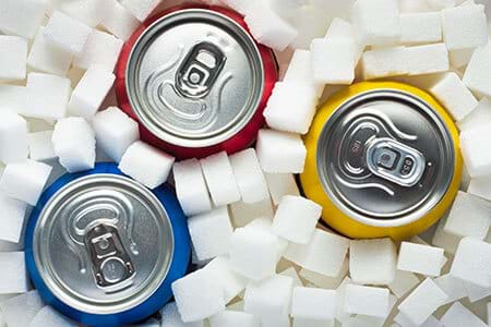 soda floods your body with glucose and leads to blood sugar spikes and crashes