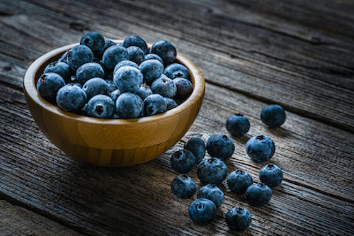 Blueberries to prevent bone loss in women.