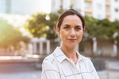 Woman feeling empowered that she knows her bone health risk factors.