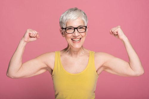 Strong bone health in woman
