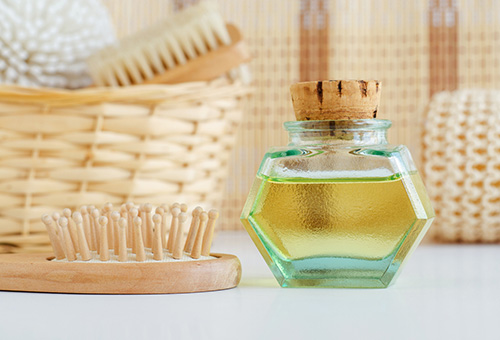 A bottle of DIY ayurvedic oil