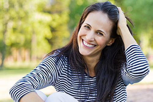 A woman who has found natural relief from PMS and menstruation issues